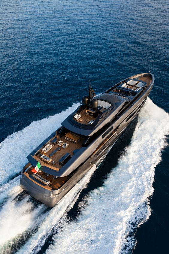 Luxury yacht with Tribu