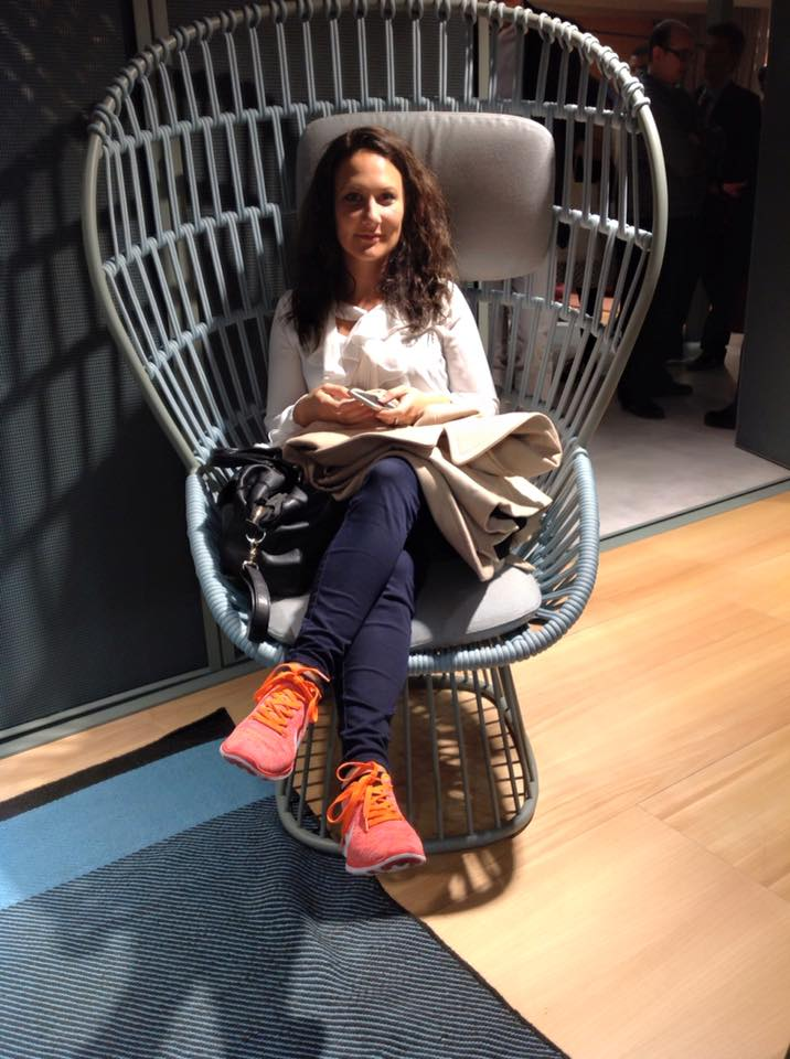 Anna from ARRCC on the Cala chair