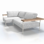 Tray - Outdoor lounge - the place where you hang out, chill out and kick back.  The sofa is welcoming and the double function of the arm / backrest tray defines the whole concept and is at your disposal the full length of the sofa.