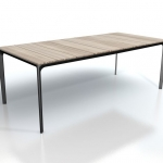 Carver - In the same way that an artist carves in stone or wood to create a form, the same way of thinking has been applied to this table, where the cross-rail and legs have been shaped like pieces cut from a solid block.