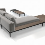 Grid - Grid is a name that describes both function and mind-set. Both grid and double grid form the basis of a totally flexible system where customers are able to combine elements that meet their personal needs. The shapes of the various elements enable the sofa to be constructed in multiple ways and even directions.