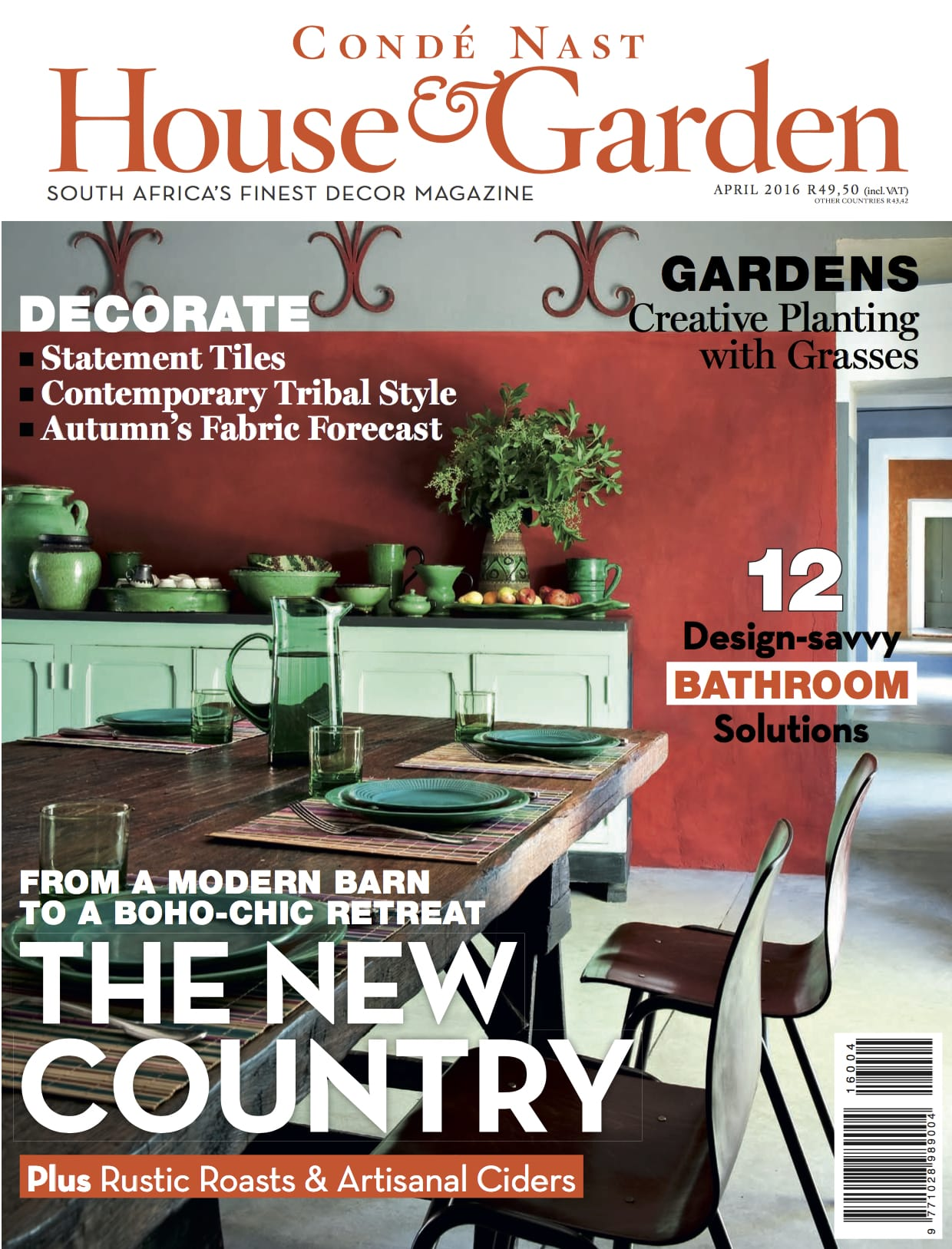 HOUSE  GARDEN April 2016 Front Cover