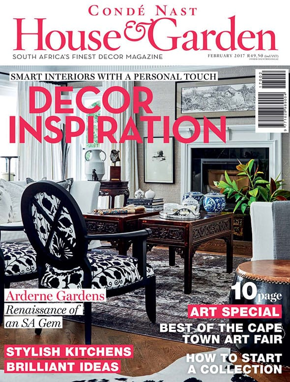 House and garden magazine cover Feb 2017