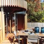 Marlanteak furniture on tree house deck.