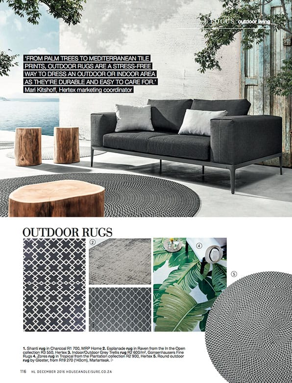 Gloster rug and Grid sofa