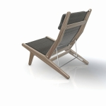 Bay - Not a direct inspiration but an overall feeling or emotion of sitting by the bay. The reclined position emphasises an introverted and relaxed state of mind, therefore the name - Bay Chair.
