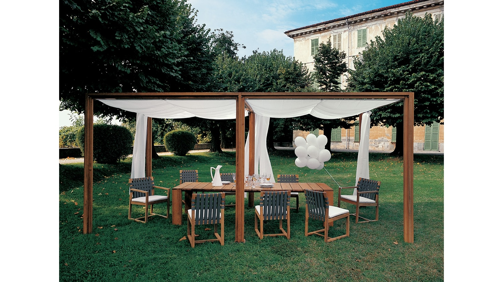 Oasis Gazebo With Extension Pier Table Nw Chiars