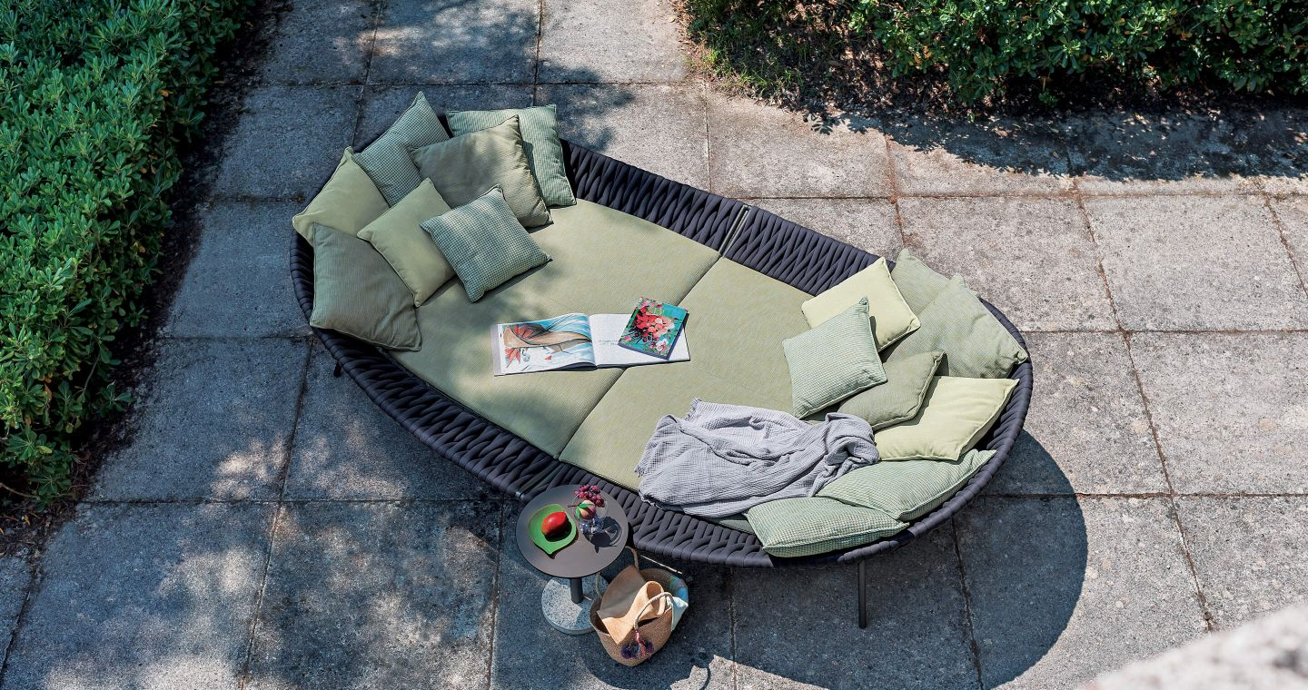 High end outdoor furniture daybed by Roda