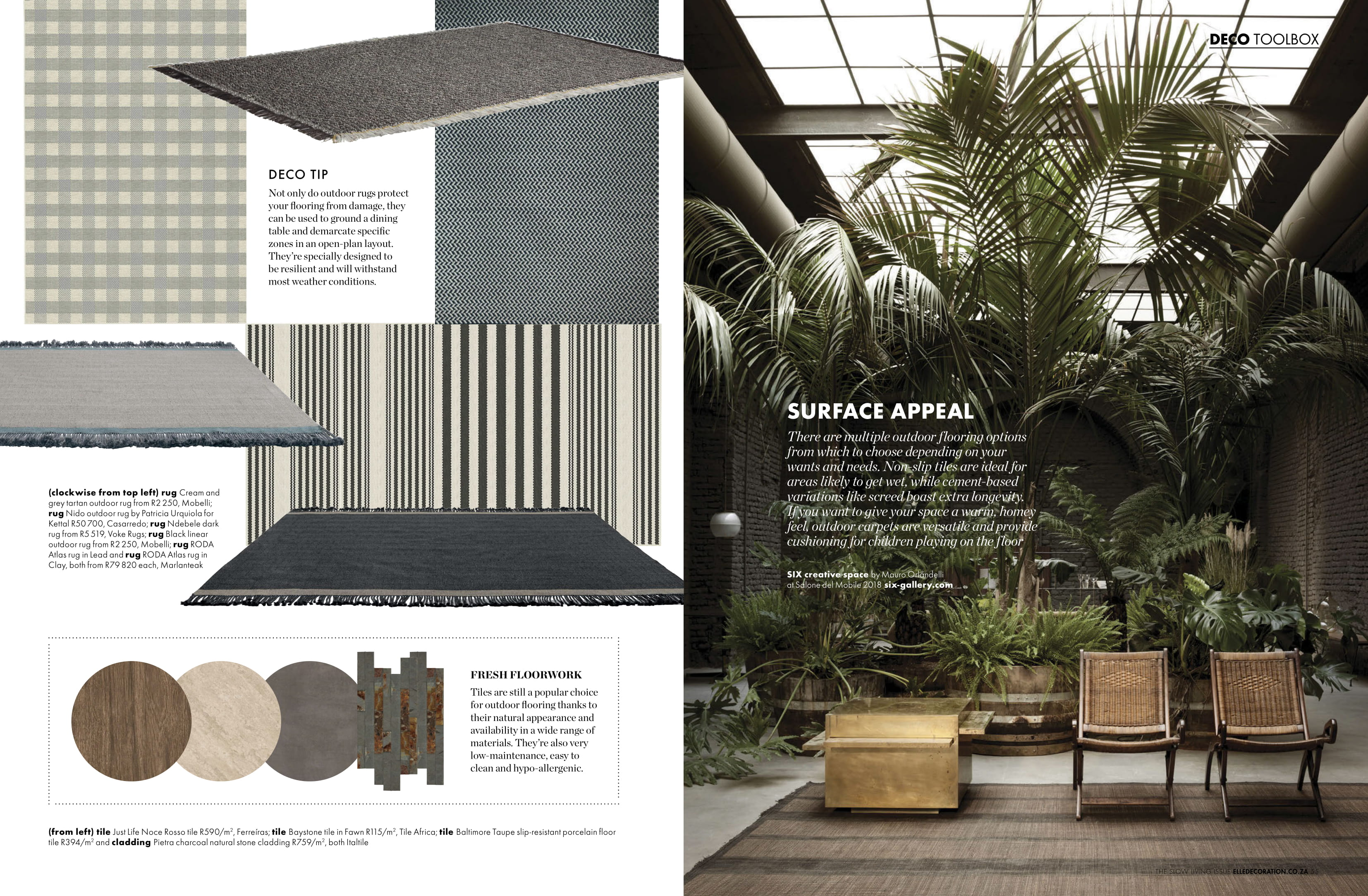 Marlanteak Outdoor furniture feature with Elle Decor
