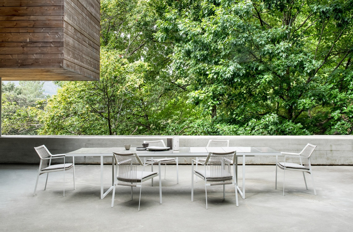 nox outdoor dining tables lifestyle image
