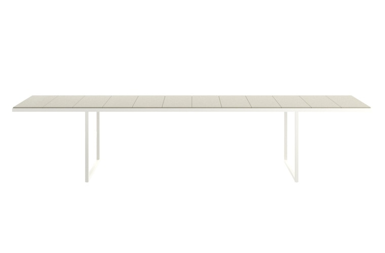 nox outdoor dining tables by Tribu